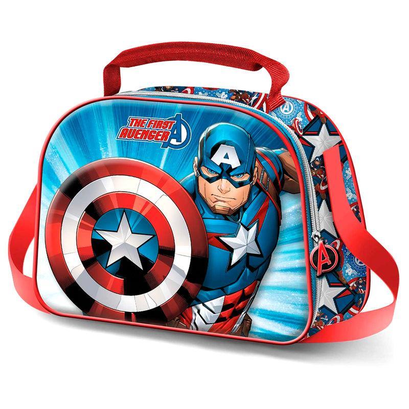 Bolsa portameriendas 3D Capitan America Marvel LA CASITA DE DUMBO