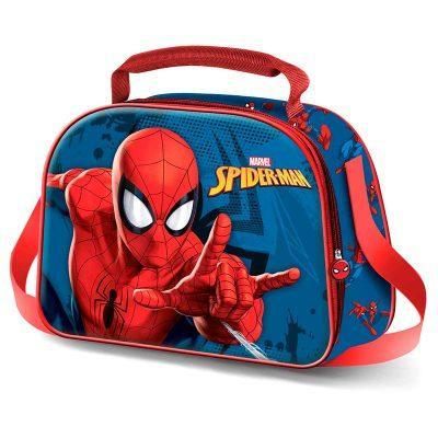 Bolsa portameriendas 3D Spiderman Marvel