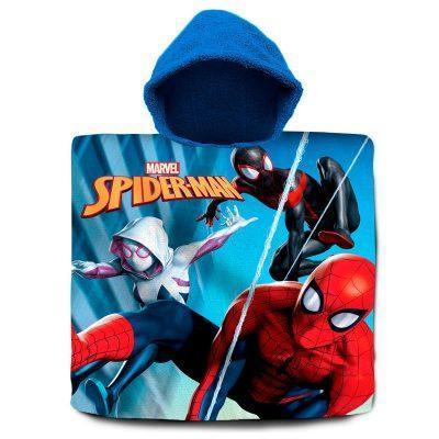 Poncho toalla Spiderman Marvel algodón la casita de dumbo