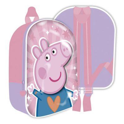 Mochila Infantil 3D Peppa Pig la casita de dumbo