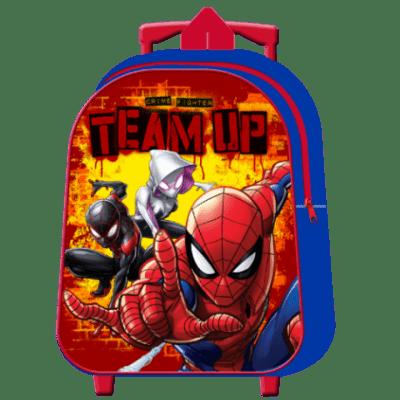 Mochila Spiderman Marvel Infantil Con Carro 30cm. la casita de dumbo