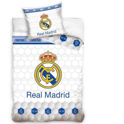 Funda Nordica Real Madrid y Almohada 140x200 - 70x80cm. BLANCA