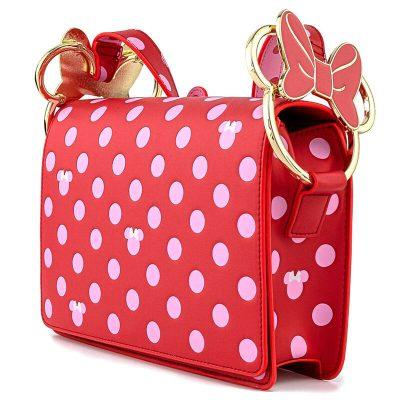 Bolso bandolera Pink Polka Dot Minnie Disney Loungefly la casita de dumbo