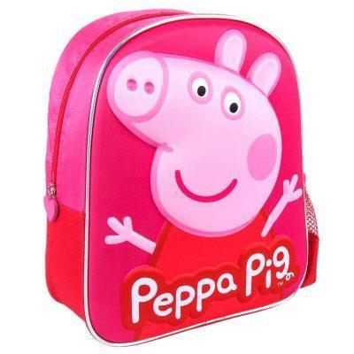 Mochila 3D Peppa Pig 31cm roja la casita de dumbo