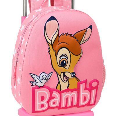 Mochila Con Carro 3D Bambi Disney la casita de dumbo