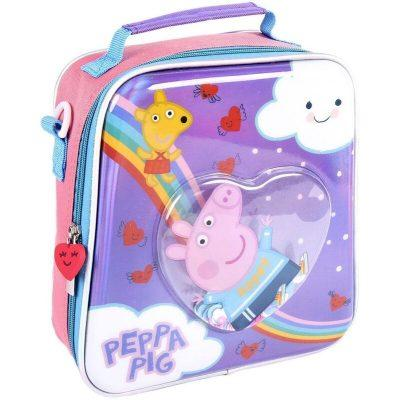 Bolsa porta merienda confetti de Peppa Pig