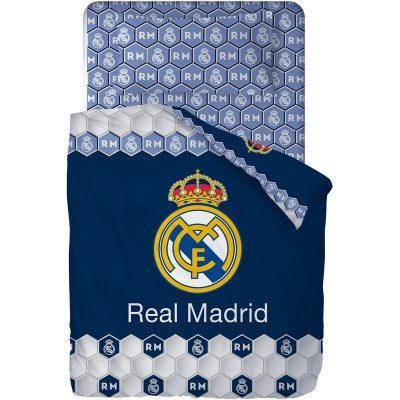 Juego de sabanas de 3 piezas para cama de 90cm de Real Madrid la casita de dumbo