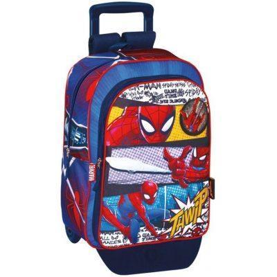 Mochila adaptable con carro trolley de Spiderman Pop la casita de dumbo